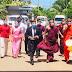 பௌத்த பிக்குகள் புடை சூழ வந்தார் பிரதம செயலாளர்
