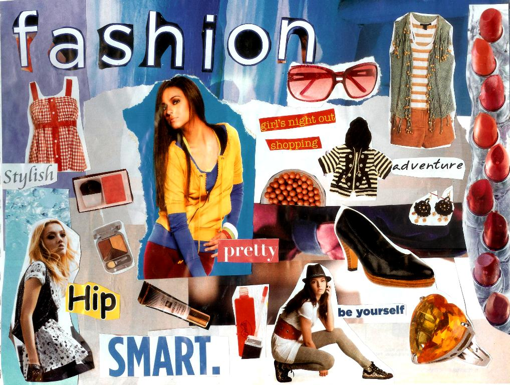 "Painted Perspective: ""Fashion"" Collage"