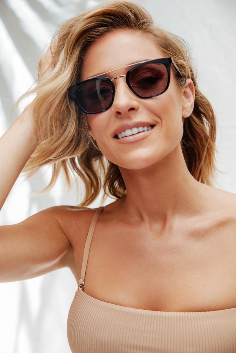 Kristin Cavallari poses for Uncommon James x DIFF Eyewear campaign