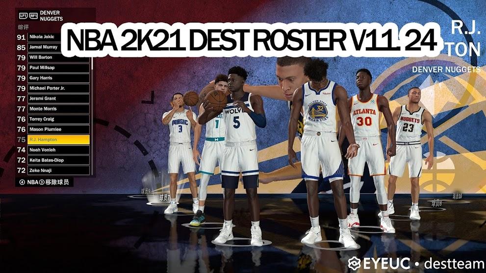 NBA 2K21 DEST ROSTER V11.24 by Destteam [11.25.20]