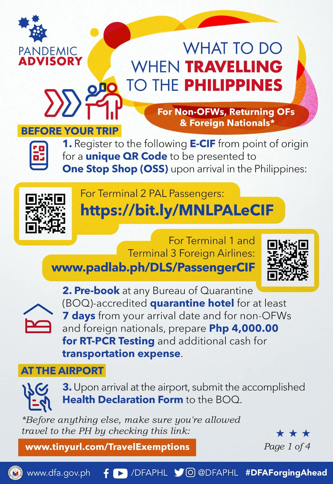 What to do when you intend to travel to the Philippines - Guide for Non-OFWs, returning Filipinos, and Foreign Nationals [INFOGRAPHIC]