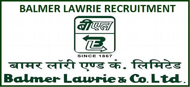Balmer Lawrie Manager and Various Post Recruitment 2020