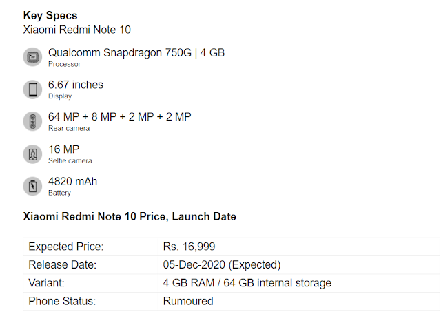 redmi note 10 4g