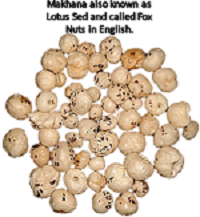 Phoo Makhana or Lotus seeds or Fox Nuts