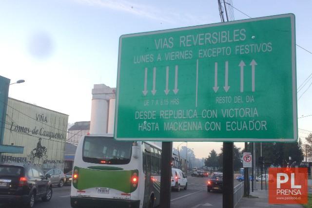 Vuelven las vías reversibles a Osorno