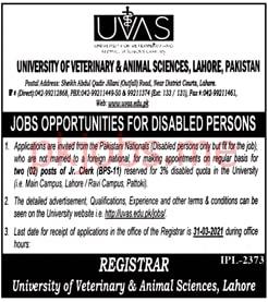 Latest University of Veterinary & Animal Sciences Education Posts 2021 Ad2