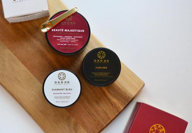 okoko cosmetique product flatlay