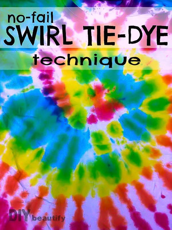 Tie Dye Swirl Technique Diy Beautify