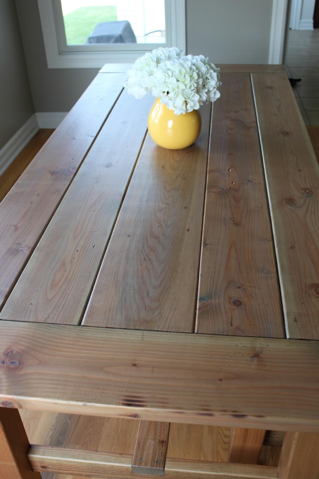 All Things DIY: DIY Farmhouse Table Part One