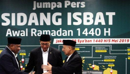 Lebaran Idul Fitri 1440 H, Jatuh Pada Rabu 5 Juni 2019