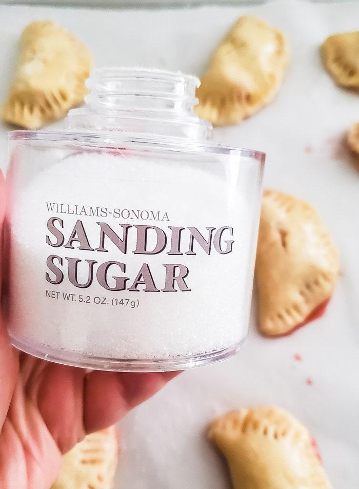 sanding sugar to sprinkle on top