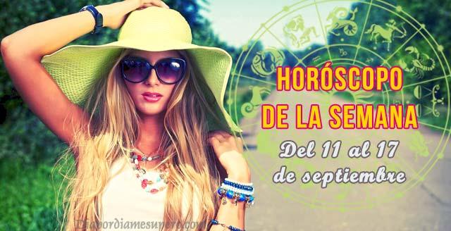 Horóscopo de la semana: 11 al 17 de septiembre