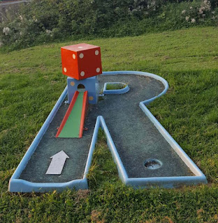 Crazy Golf course at Ancaster Karting in Grantham