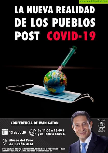 El pensador geopolítico Iván Gatón analiza en Breña Alta 'La nueva realidad de los pueblos post Covid-19'
