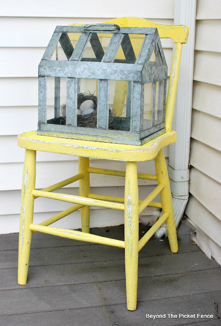a sweet chair for the porch for spring