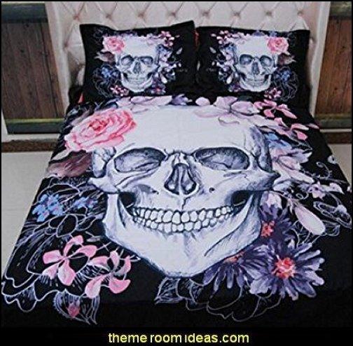 Flower Skull Bedding sets