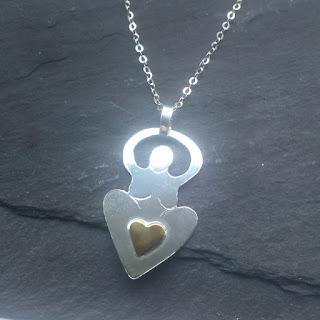 Goddess Heart necklace