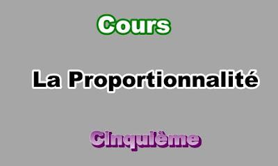 Cours Sur La Proportionnalité 5eme en PDF