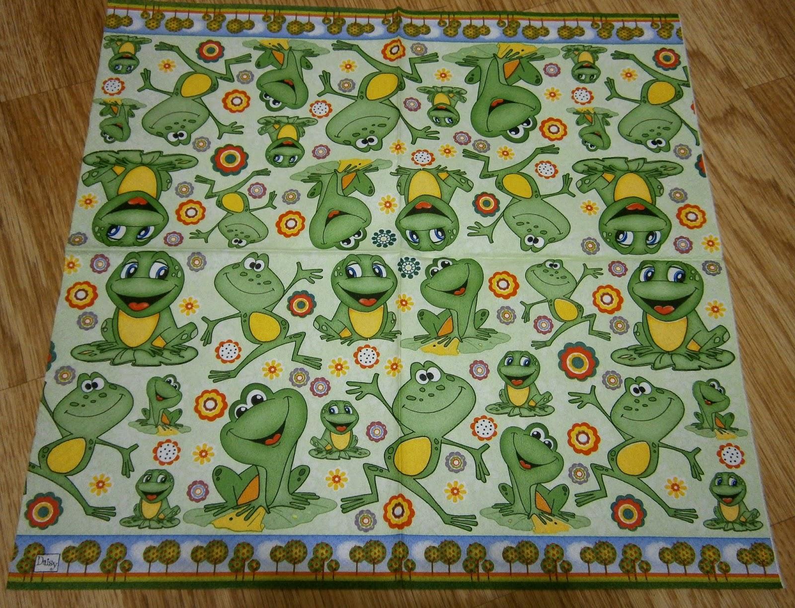 serwetki decoupage - zwierzęta - żaby