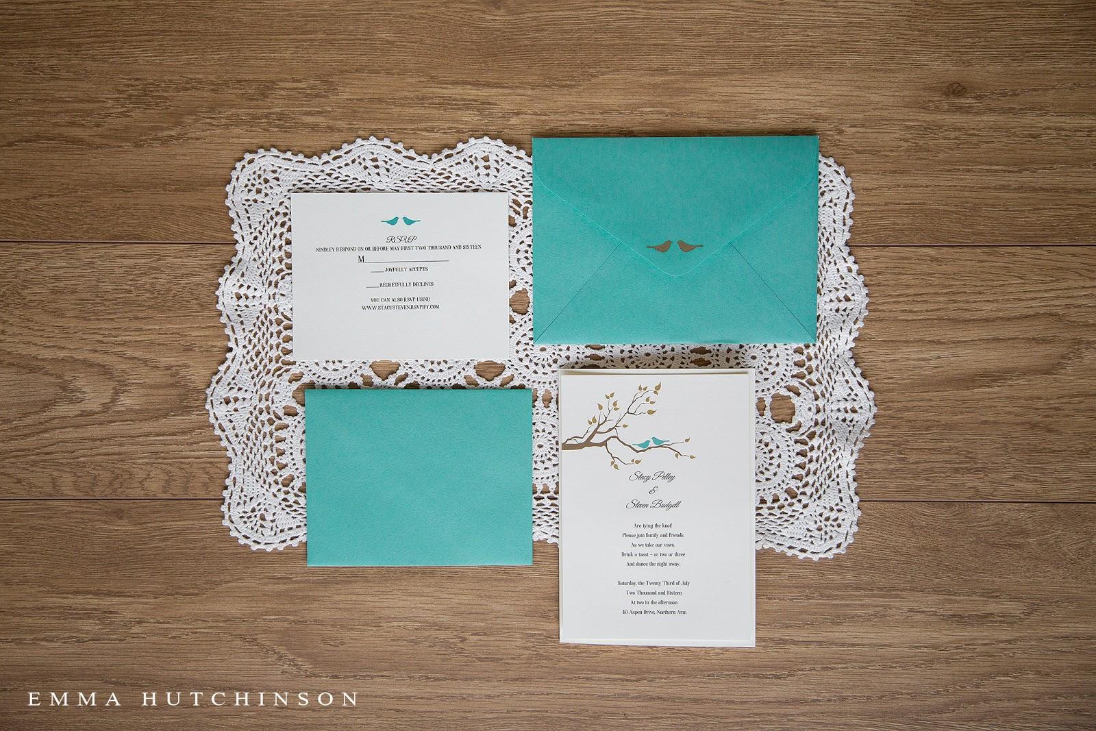 Newfoundland backyard wedding - invitation