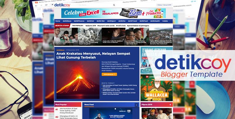 Detikcoy Magazine Responsive Blogger Template