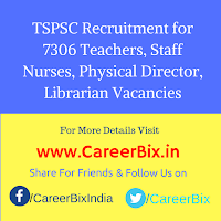 TSPSC Recruitment for 7306 Teachers, Staff Nurses, Physical Director, Librarian Vacancies