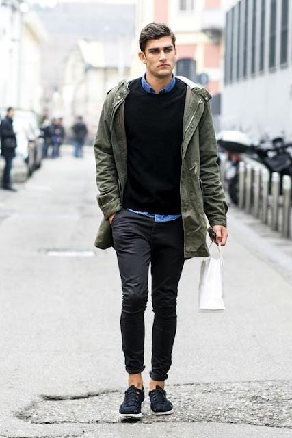 verde militar moda masculina