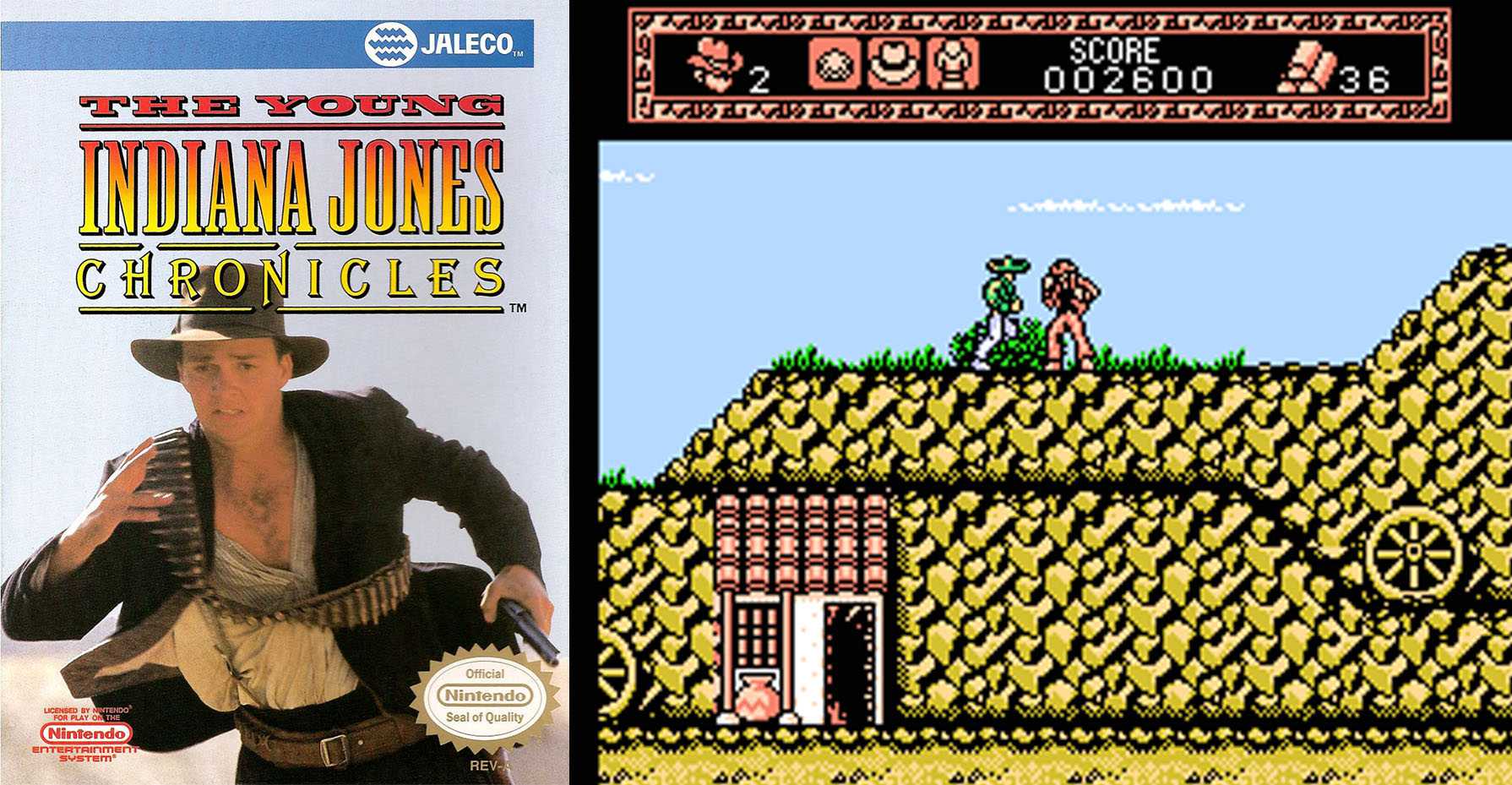 The Young Indiana Jones Chronicles NES jaleco 1993