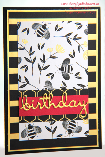 #thecraftythinker #stampinup #cardmaking #saleabration #wellwritten , Sale-A-Bration 2020, Golden Honey SDSP, Well Written Dies, Stampin' Up Demonstrator Stephanie Fischer, Sydney NSW