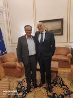 Ο βουλευτής Φλώρινας της ΝΔ κ. Γιάννης Αντωνιάδης είχε συνάντηση στο Υπουργείο Εξωτερικών με τον υπουργό κ. Νίκο Δένδια.