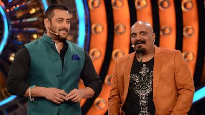 अरविंद वेगड़ा बिग बॉस शो के होस्ट और अभिनेता सलमान ख़ान के साथ