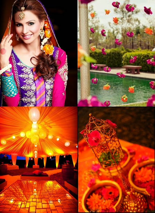 Traditional Mendi / Sangeet themes for Pakistani, Indian or Desi wedding