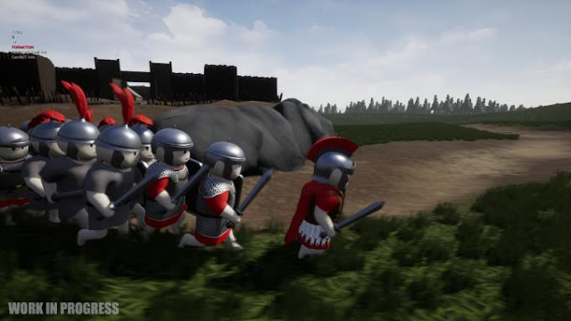 Shieldwall is a mixture of strategy and military adventure action with a third-person view, a game in which you have to join Caesar's army and go to Gaul