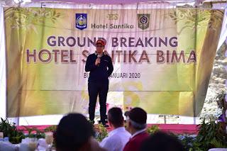 Gubernur Letakkan Batu Pertama Pembangunan Hotel Santika di Kalaki Bima