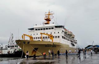 Akan Digunakan Lokasi Isoter, KMP Bukit Raya Tiba di Pelabuhan Belawan