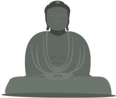 Illustration grand bouddha Kamakura