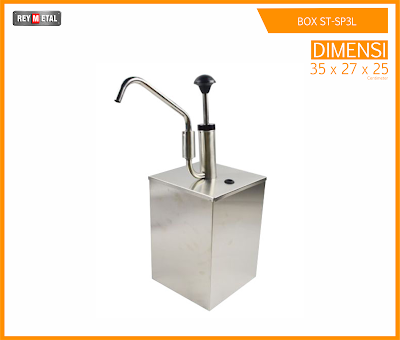 Jual sauce pump dispenser Stainless Murah