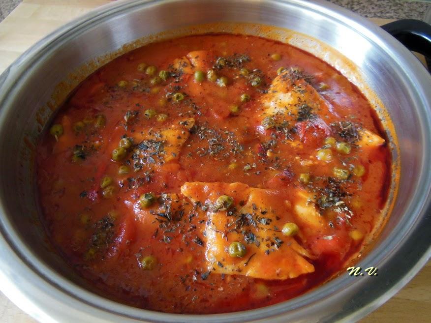 La cocina de natibel bacalao con tomate pimientos - Bacalao fresco con tomate ...