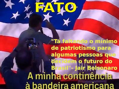 Bolsonaro continência bandeira EUA