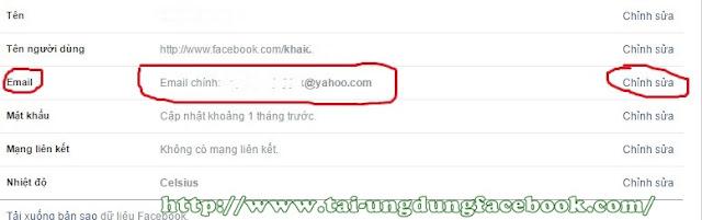 Bảo mật facebook bằng địa chỉ email