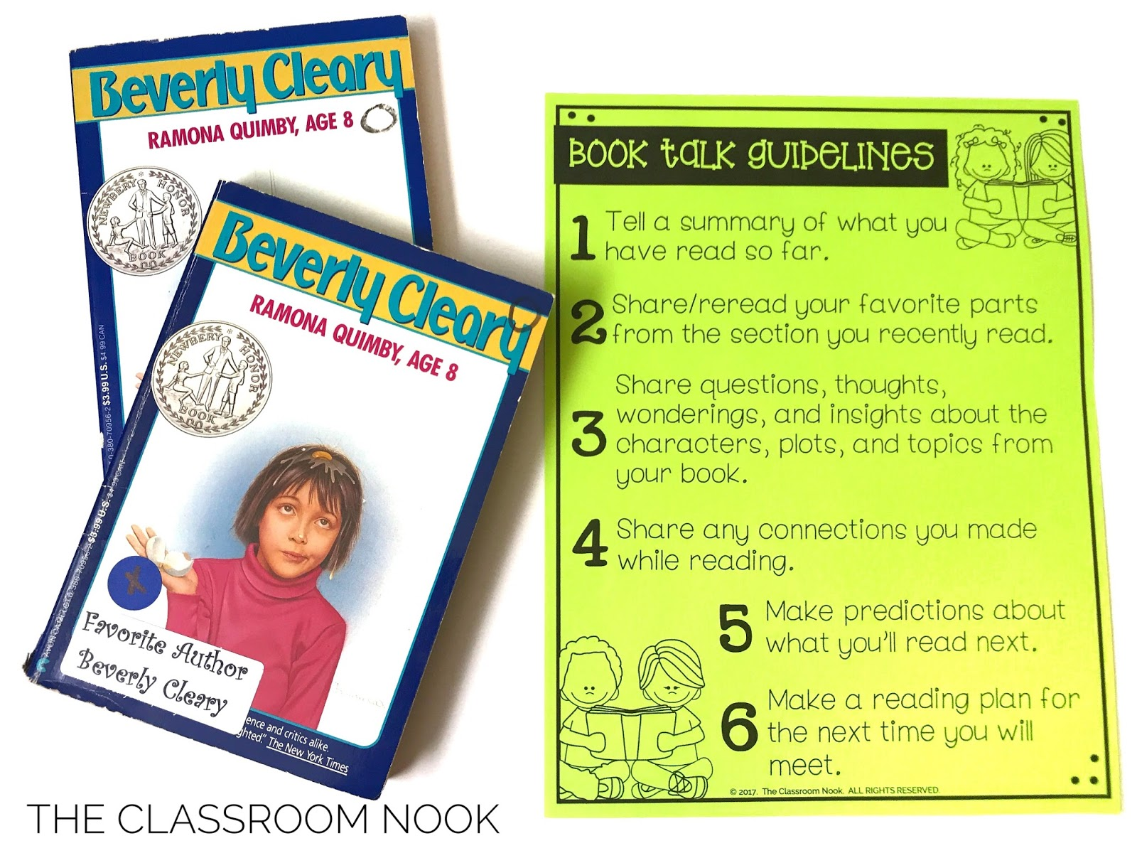 give students book talk guidelines to help foster meaningful conversations