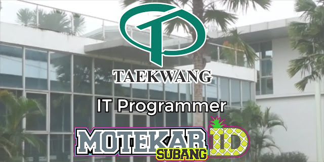 Info Loker IT Programmer PT. TK Industrial Indonesia 2019