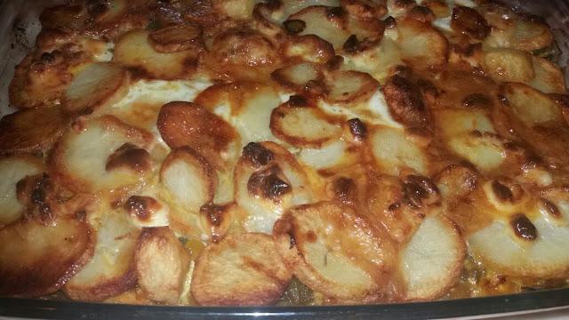 فطيرة البطاطس في الفرن   . بطاطس في الفرن . بطاطا في الفرن .  تعلم الطخ . وصفات . الطبخ العربي . الطبخ المغربي
