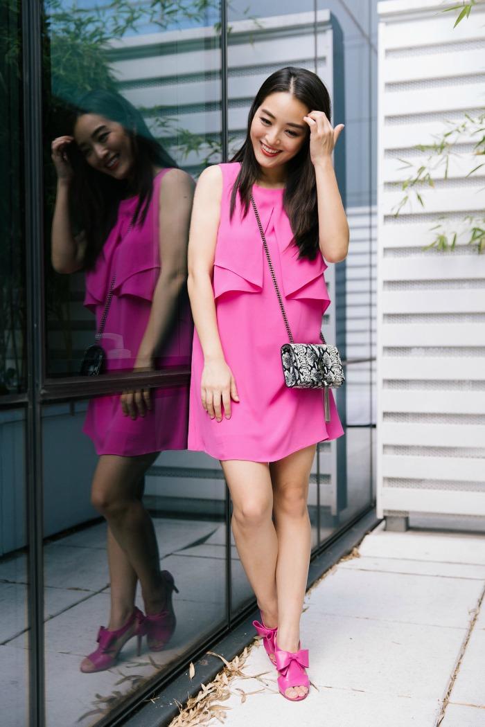 bcbg pink dresses
