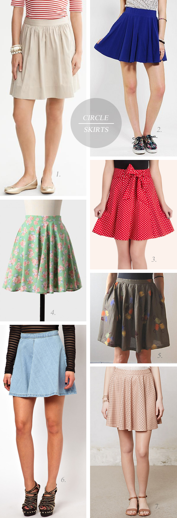 The Short Circle Skirt // Bubby and Bean