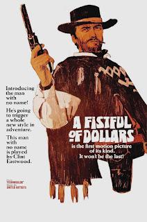 Cartel película por un puñado de dólares - Clint Eastwood