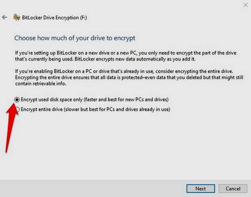 كيفية تشفير وحماية الفلاش ميموري USB في ويندوز 10