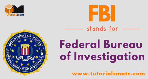FBI Full Form