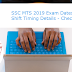 SSC MTS 2019 Exam Dates and Shift Timing Details - Check Here