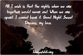 Good Night Wishes for My Love
